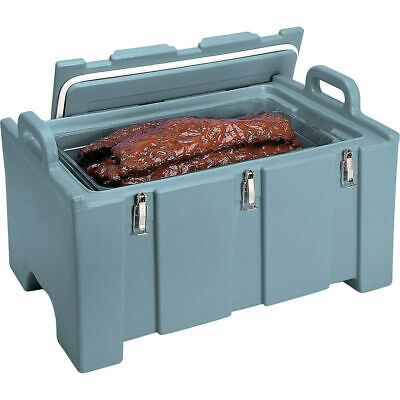 Cambro 40 Qt Cooler / Insulated Food Carrier, Molded Handles Slate Blue 100Mpc
