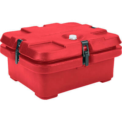 Cambro Top Loading Insulated Food Carrier, Half Size Pans Hot Red 240Mpc-158