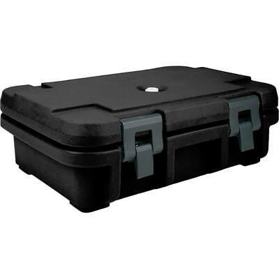 """Cambro Top Loading Insulated Food Carrier For 4"""" Deep Pans Black Upc140-110"""