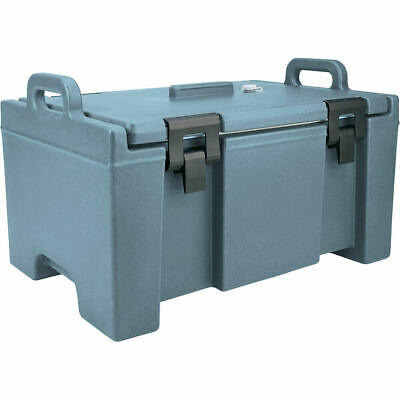 Cambro 40 Qt Cooler, Molded Handles And Easy Opening Latches Slate Blue Upc100
