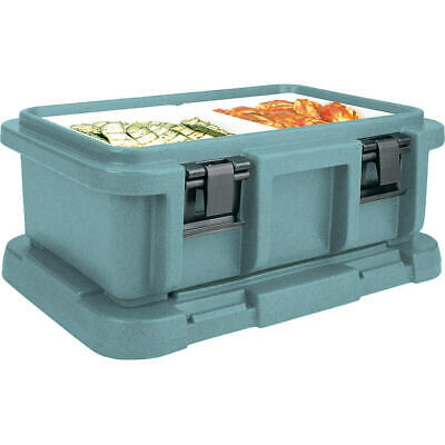 """Cambro Top Loading Insulated Food Carrier For 6"""" Deep Pans Granite Green Upc160"""