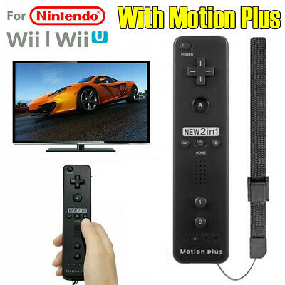 Black Built in Motion Plus Wiimote Remote Gesture Controller For Wii & Wii U