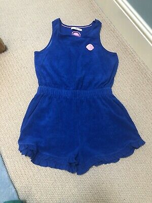 Girl's Marks and Spencer Royal Blue Towelling Playsuit Age 12 -13 Years