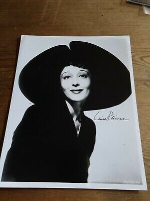 Louise Rainer Hand Signed 10X8 Photo