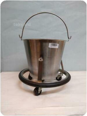 Stainless Steel Kick Bucket With Rolling Stand @ (248002)