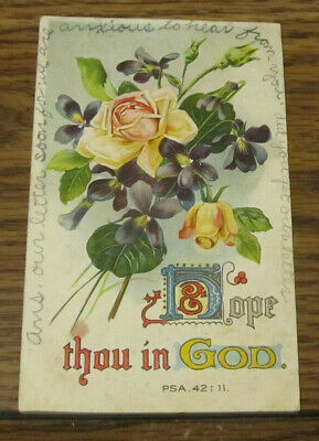 1911 Vintage Postcard Religion Religious Posted Dayton TN Printed in Germany #2