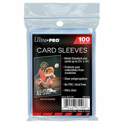 1000 Ultra Pro Penny Sleeves Sports Cards Soft Standard Gaming (10 Packs of 100)