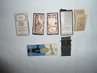 Vtg.lot Sewing Needle Packages,1 War Economy Pack & Rip-A-Seam Tool