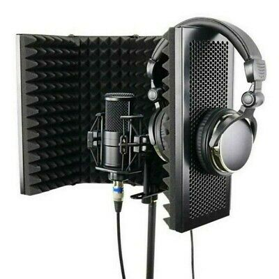 Microphone Booth Studio Recording Vocal Microphone Isolation Shield Reflector US