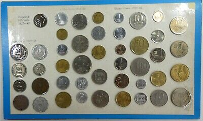 Complete 44 Coin Type Set Israel Coin from Palestine Mil to Pruta, Lira & Shekel