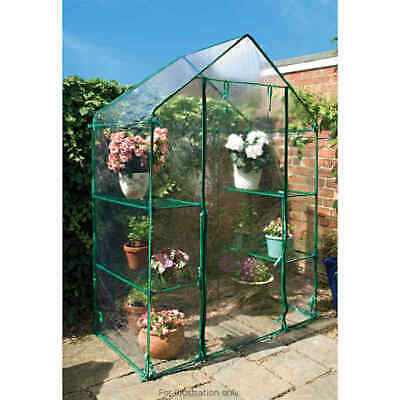Walk In Greenhouse 6 Shelves Plastic Pvc Cover Outdoor Garden Grow Plant Bs1