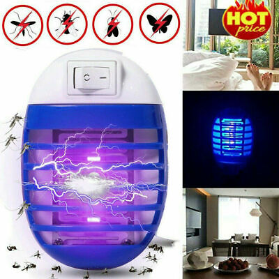 2* Electric UV Light Mosquito Killer Insect Fly Zapper Bug Trap Catcher Lamp New