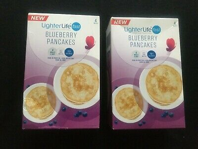 2 packs LighterLife Fast Blueberry Pancakes Total 8 meals.