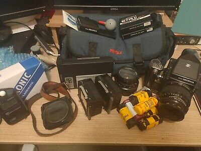 Vintage Zenza Bronica ETRS Medium Format Film Camera Bundle