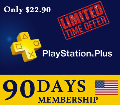 3 Month PlayStation PLUS Membership CARD   - PSN PS3 PS4 FAST  delivery✅