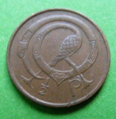 Irish 1971 Decimal Half Penny Coin Old Ireland 1/2p  First Year Issued Bird Harp