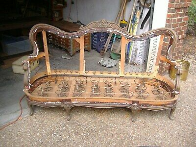 Victorian sofa couch antique  frame ready for upholstery