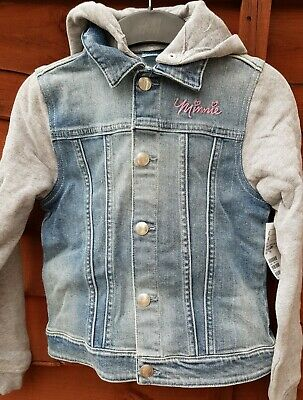H&M girls' denim jacket with hooded age 7-8 years/128
