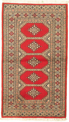 "Hand-knotted  3'0"" x 5'4"" Bordered, Geometric, Tribal Wool Rug"