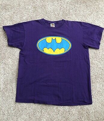 VINTAGE BATMAN Fruit Of The Loom Purple Mens Sz XL