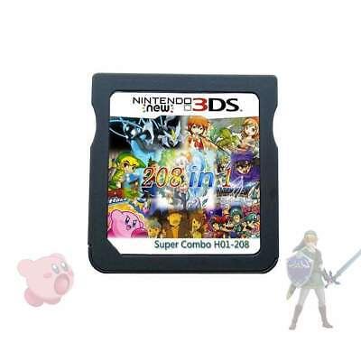 208 in 1 Game Games Cartridge Multicart For Nintendo Ds Nds Ndsl 2DS 3DS