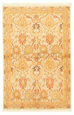 "Hand-knotted  4'1"" x 6'2"" Bordered, Traditional Wool Rug"