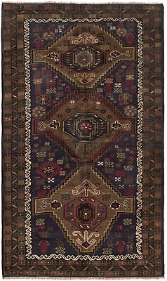 "Hand-knotted Carpet 3'10"" x 6'5"" Traditional Vintage Wool Rug"