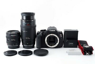 Canon EOS Kiss X6i camera / Rebel T4i w/ 35-70mm 70-210mm Lens [Near Mint] FedEx