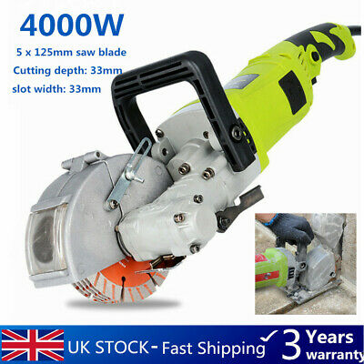 Electric Groove Cutting Machine Wall Chaser Concrete Saw Slotter 125mm Saw Blade