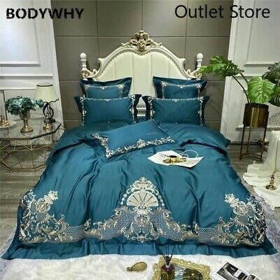Luxury  Egyptian Cotton European Palace Bedding Set Fine Embroidery Duvet Cover