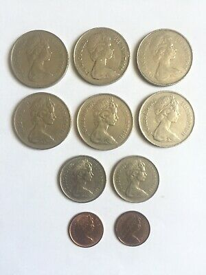 Queen Elizabeth Half Penny 1976 79 5 P 1969 70 10 P 1969 - 1979 Coins Currency