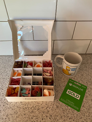 Personalised Mug With Pick and Mix Sweet Box And Xbox Gift Card