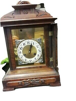 "Junghans Hans Bracket Clock working H 17.5 "" W 12"" D 8.5"""