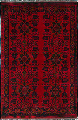 "Hand-knotted Carpet 4'0"" x 6'0"" Traditional Vintage Wool Rug"