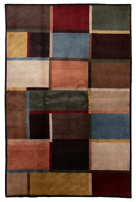 "Hand-knotted Nepali Carpet 5'9"" x 8'6"" Aurora Transitional  Rug"