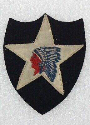 Army Patch: 2nd Division - on felt