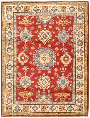 "Hand-knotted Carpet 5'2"" x 6'9"" Bordered, Traditional Wool Rug"