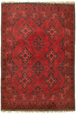 "Hand-knotted Carpet 3'4"" x 4'8"" Traditional Vintage Wool Rug"