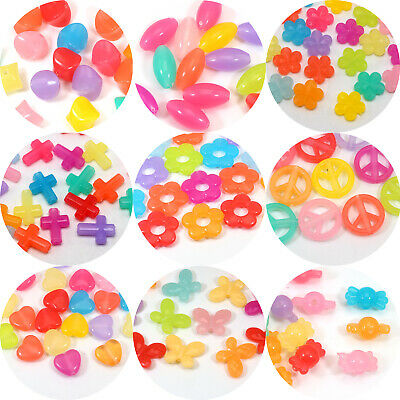 CraftbuddyUS100pc Mixed Hearts//Stars Rhinestone Gem Shape Toppers StickOn w//Glue