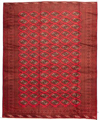 "Hand-knotted Carpet 9'8"" x 11'8"" Traditional Vintage Wool Rug"