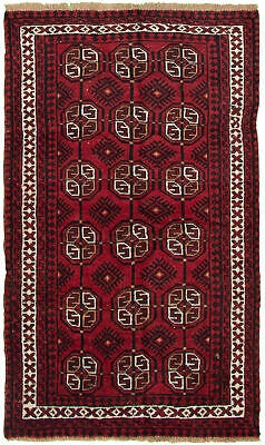 "Hand-knotted Carpet 3'9"" x 6'7"" Traditional Vintage Wool Rug"