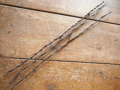 GLIDDENS 2-PT on 3 SIZES of ROUND LINE & 7 STRAND CABLE - ANTIQUE BARBED WIRE