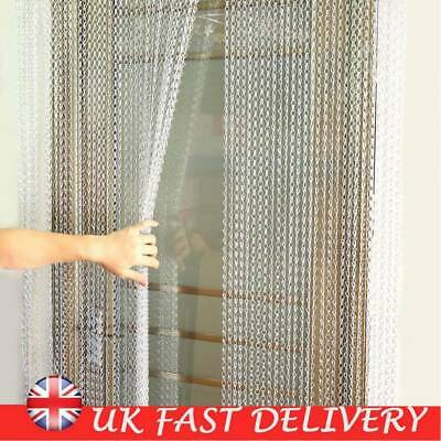 210 x 90CM Metal Chain Insect Fly Door Curtain Screen Aluminium Pest Control