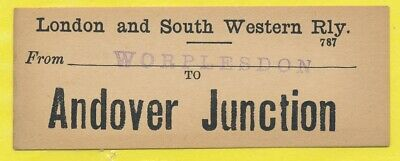 London & South Western Railway luggage label - ANDOVER JUNCTION