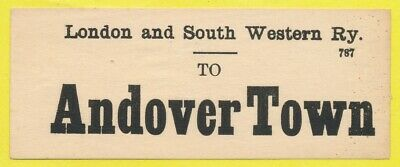London & South Western Railway luggage label - ANDOVER TOWN