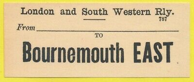 London & South Western Railway luggage label - BOURNEMOUTH EAST