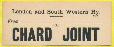 London & South Western Railway luggage label - CHARD JOINT