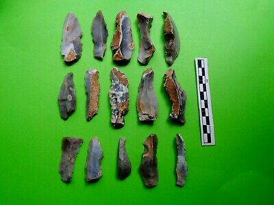 Flint Group of Long Blade Tools;Neolithic  (R 2)-  Dorset Finds- Look!