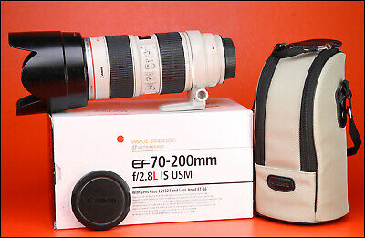 Canon EF 70-200mm F2.8 L IS USM Telephoto Zoom Lens + Front/Rear Lens Caps &Hood