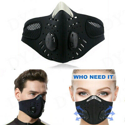 Outdoor Cycling Masks Air Purifying PM2.5 Face Mask Activated Carbon with Filter